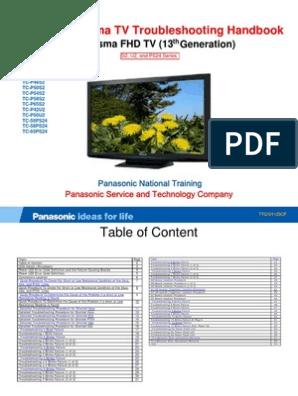 Panasonic Plazma Service | Troubleshooting | Electrical