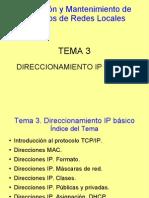 Direccionamiento IP básico.