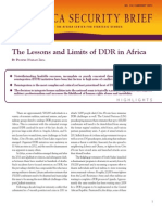 The Lessons and Limits of DDR in Africa