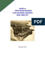 Documentos sobre PR en el Archivo Nacional sucursal de NY
