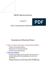 EE207 Electrical Power - Lecture 6