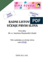 Radni Listovi Za Uc48denje Prvih Slova