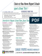 Interdistrict Magnet School Open House Dates 2013