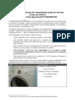 Procédure de nettoyage du compartiment pompe de relevage