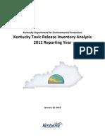 Kentucky TRI analysis
