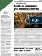 Suicídio de programador gera protestos na internet