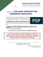 Com. Nº002/013 - Jornadas de Capacitación en Expediente Electrónico