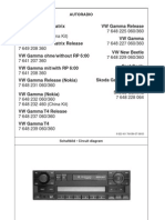 VW Blaupunkt Gamma V Service Manual ENG-GER