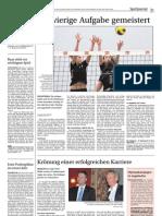 Zeitungsbericht Steinhausen - Schönenwerd