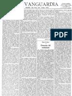 Articulo sobre Ortega Vanguardia