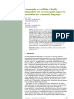 Health Care Interpretation and the Impact on Language and Societies