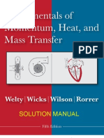 Fundamentals of Momentum, Heat , and Mass Transfer 5th Edition Welty Solutions manual