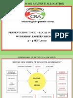 Commission on Revenue Allocation Presentation to CIC