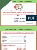 CRA presentation to national assembly, senate, county assemblies
