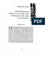 RITUALIZED HOMOSEXUAL BEHAVIOR IN THE MALE CULTS OF MELANESIA, 1862-1983 AN INTRODUCTION