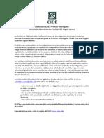 Convocatoria Profesor Investigador de Tiempo Completo CIDE Región Centro, División de Administración Pública