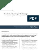 Decode corporate stratgey