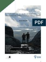 Dopaje y deporte. Estudio uso analgésicos no esteroides en Raid Estocolmo 2009. Emma Wichardt