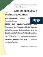Los Profesores de Educación Media Superior de la Universidad de Guadalajara ante los Desafíos de la Reforma Política-Educativa