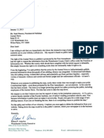 Letter from Rob Astorino to The Journal News