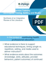 Design and Deliver Effective In-Service Training