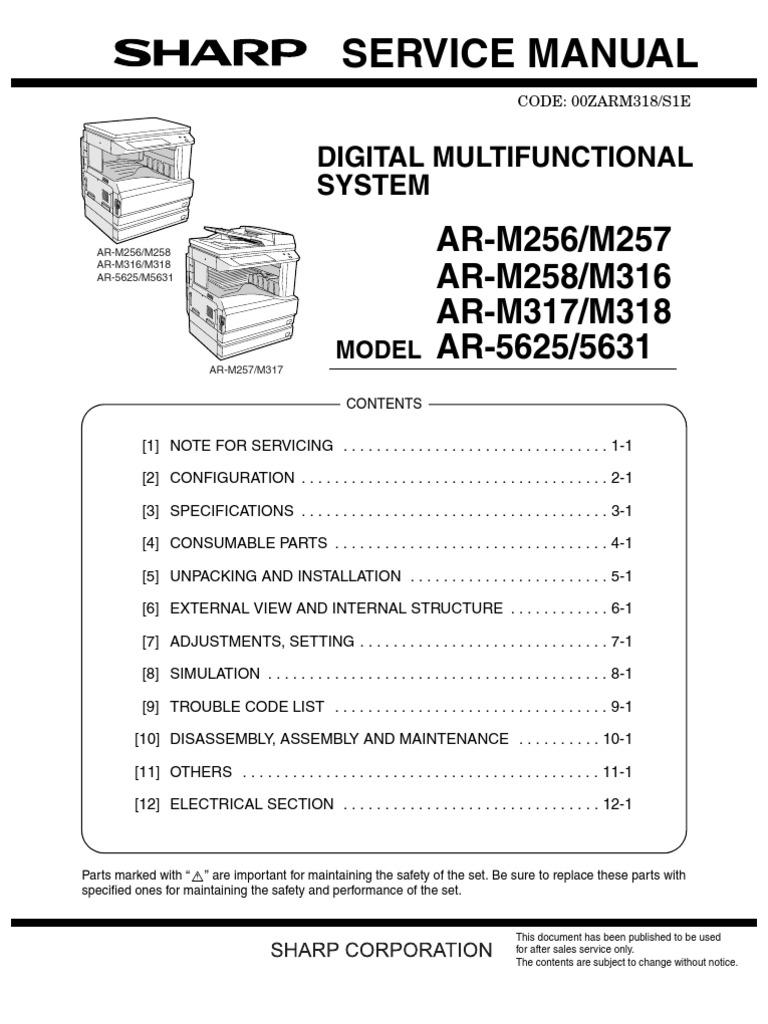 ar 5631 sm rh scribd com Sharps AR- 15 sharp ar 5623 n service manual pdf