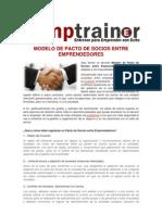 Modelo de pacto de socios entre emprendedores