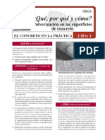 pulverización en la ssuperficies de concreto