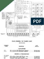 B&K Model 747 Dyna-Jet Tube Tester Schematic
