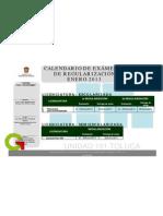 calendario de exámenes de regularización enero 2013