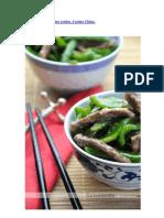 Ternera con pimientos verdes