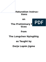 The Maturation Instructions of the Longchen Nyingtig Ngondro Practice