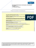 Physico-Genetic Determinants in the Evolution of Development