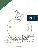 40plainoldcolouringprintableworksheet Apple