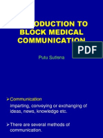 introduction to block medical communication