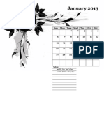 2013 Monthly Calendar Landscape 05