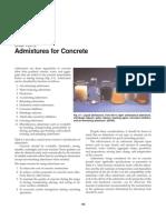 Admixtures for Concrete