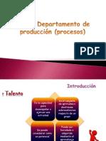 Departamento de producción (procesos)