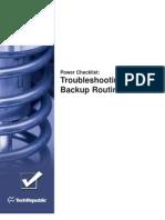 Troubleshoot Backup Routines