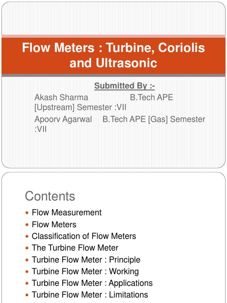 measurement   Flow Measurement   Turbine