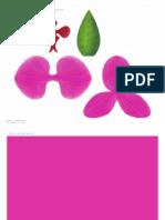 orquidea de papel, manualidades