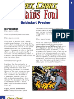Capes Cowls and Villains Foul - Quickstart RPG