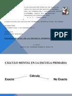 CALCULO MENTAL EN LA ESCUELA PRIMARIA