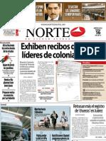 Periodico Norte de Ciudad Juárez 16 de Enero de 2013