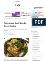 Taiwanese Beef Noodle Soup Recipe » The Noodle Guy _ A Website That Is All About Noodles, Noodle Recipes, Noodle Reviews and Noodle News