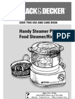 black and decker food steamer rice cooker and manual