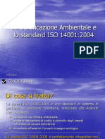 La Certificazione Ambientale e lo standard ISO 14001