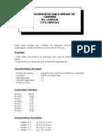 FICHE TECHNIQUE DE SABLE ABRASIF