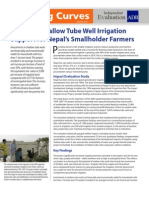 Impact of Shallow Tube Well Irrigation Support for Nepal's Smallholder Farmers