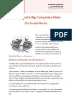 Top 1 Mistake Big Companies Make On Social Media